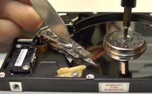 восстановление упавшего жесткого диска